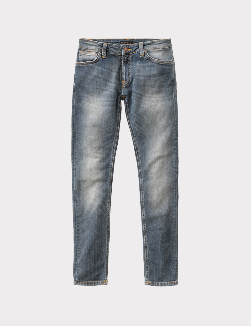 Nudie Skinny Lin Shimmering Pow Denim And Cloth