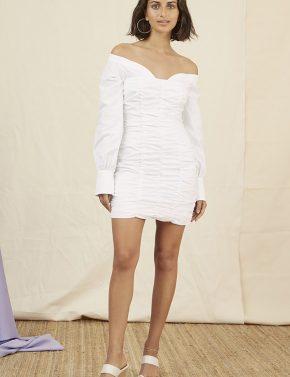 5066b64da84 Finders Keepers Bailey Shirt Dress -white - Denim and Cloth